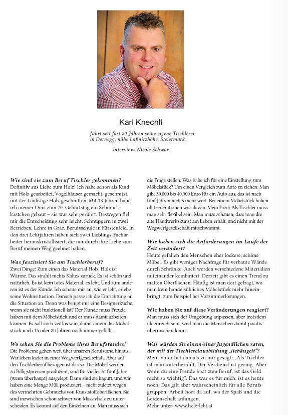 Karl Knechtl, Tischlerei Knechtl