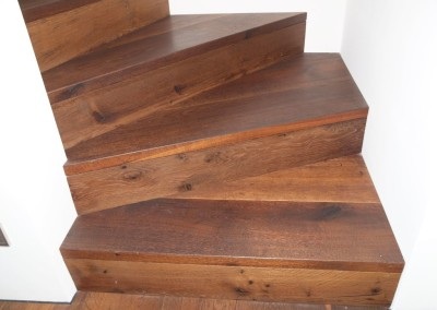 Beton Stufen Verkleidung, Trittstufen und Setzstufen in Holz