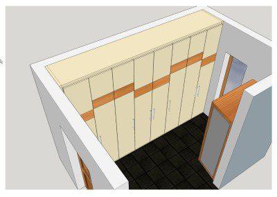 Planung eines begehbaren Wandschrankes