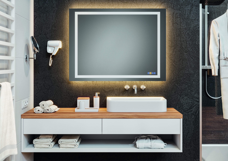 multifunktioneller badezimmerspiegel tischlerei knechtl. Black Bedroom Furniture Sets. Home Design Ideas
