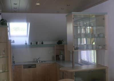 U-Küche im Dachgeschoss.
