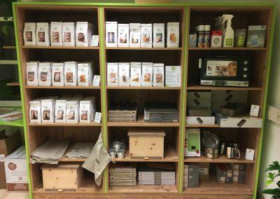 Geschäftseinrichtung im BACKPROFI Shop von Christian Ofner in Gleisdorf.