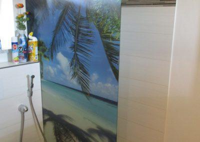 Persönliches lieblings Motiv, z.B. Urlaubsfoto, als Duschtrennwand.